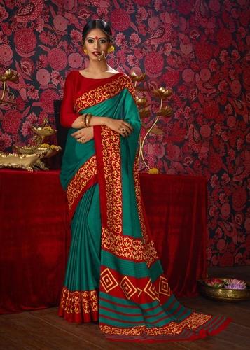 Designer Khadi Printed Saree