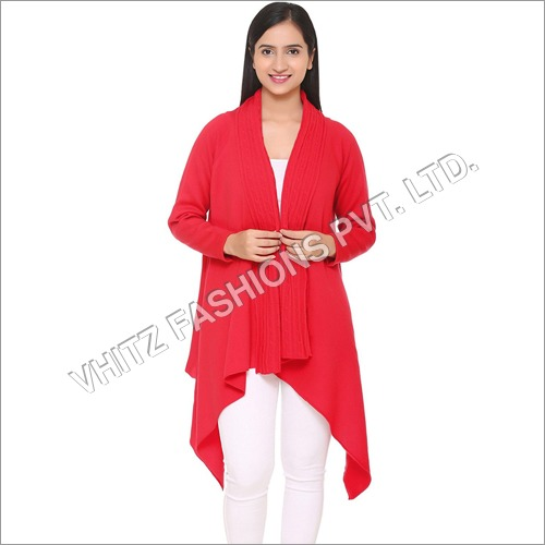 Women's Acrylic Shrug (Red)