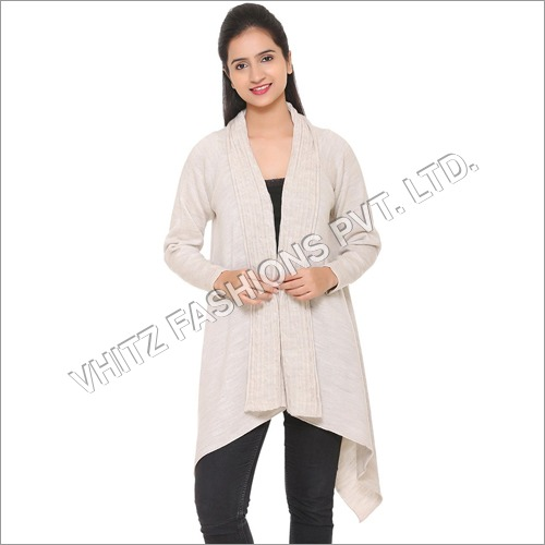 Women's Acrylic Shrug (Cream)