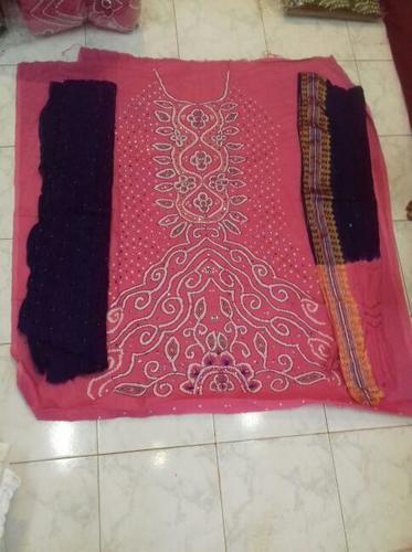 Traditional Bandhej Dress Material