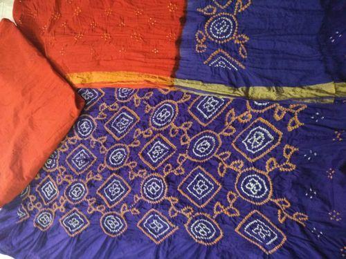 Bandhej Unstitched Dress Material