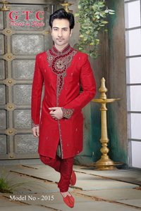 Groom's Unique Indo western sherwani