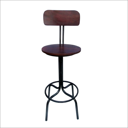 Industrial vintage Iron & Wood Bar Chair