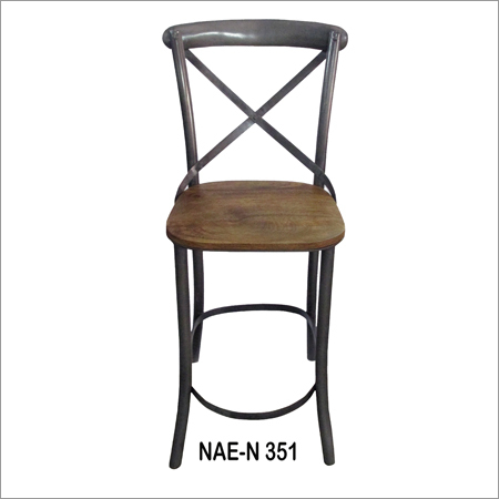 Industiral Pipe Metal And Wooden Chair