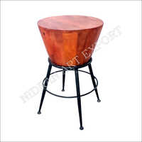 Nae-n-926 ( Industrial And Vintage Iron Metal And Wooden Bar Stool)