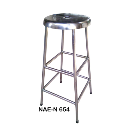 Industrial Pipe Metal Bar Stool