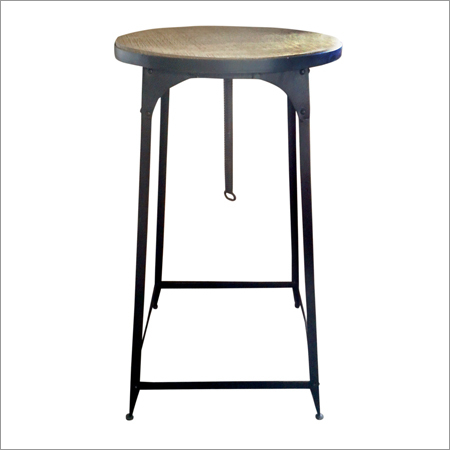 Industrial Flat Iron Bar Stool