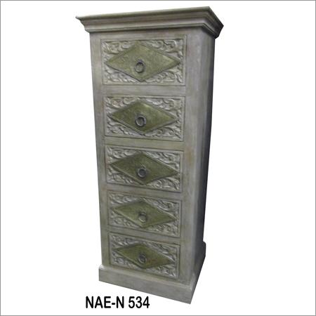 Industrial 5 Drawer Bed Side Cabinet