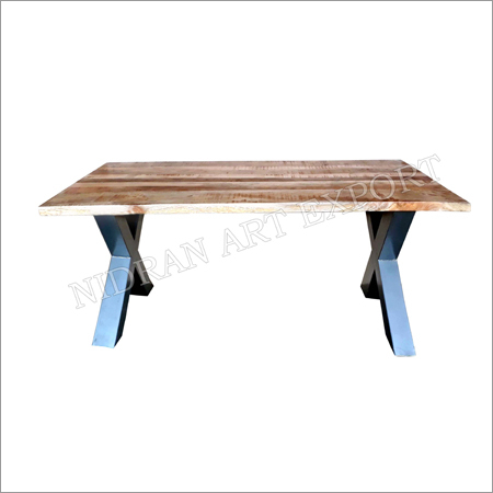 Iron & Ruff Wooden Industrial Dining Table