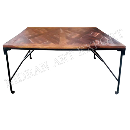 Iron & Wooden Industrial Folding Dining Tables