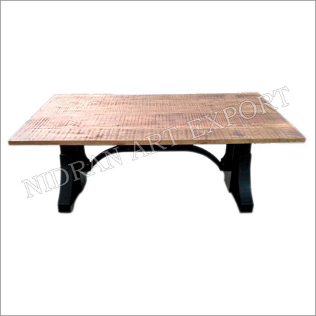 Iron & Wooden Industrial Crank Dining Tables