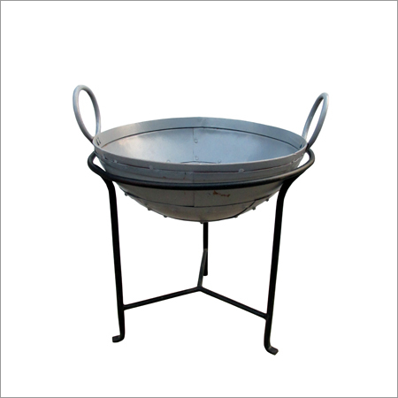 Iron Fire Bowl Silver finish
