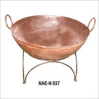 Iron Fire Bowl Rust Brown Finish