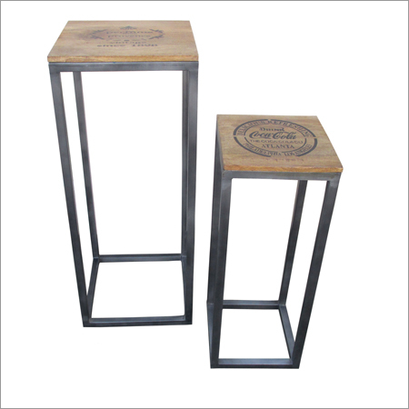 Industrial Side Tables Set Ot Two