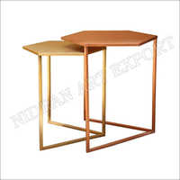 Iron Side Tables Set Of Two