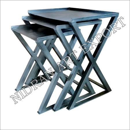 Iron X Side Tables Set Of Three