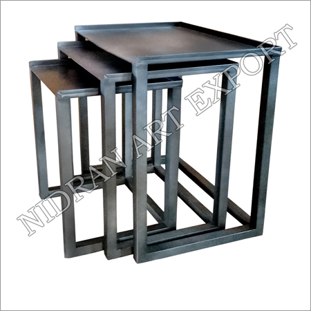 Iron Side Tables Set Of Three