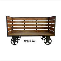 Industrial Wooden Day Bed Sofa Cart