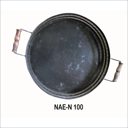 Iron Round Tray With Handle