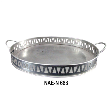 Iron Round Metal Tray