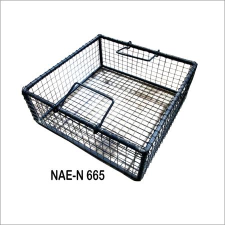 Iron vintage Grid box basket
