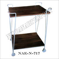 Industrial Iron & Wooden Bar Trolley Table