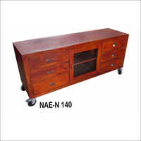 Industrial Wooden 6 Drawer +1 door TV Cabinet