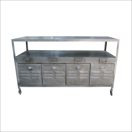 Industrial Iron 4 Drawer TV Cabinet