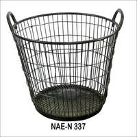 Industrial Iron Grid basket With Handles