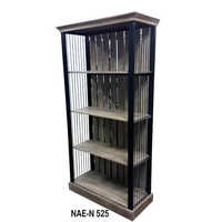 Iron 4 Bookshelf Rack