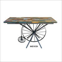 Wooden Cycle Console Table