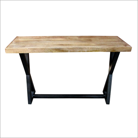 Iron & Wooden Industrial X Dining/console Table