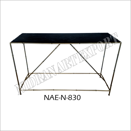 Iron & Black Marble Dining / console Table