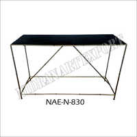 Black Marble Dining Console Table