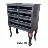 Iron Industrial  8 Drawer Chest
