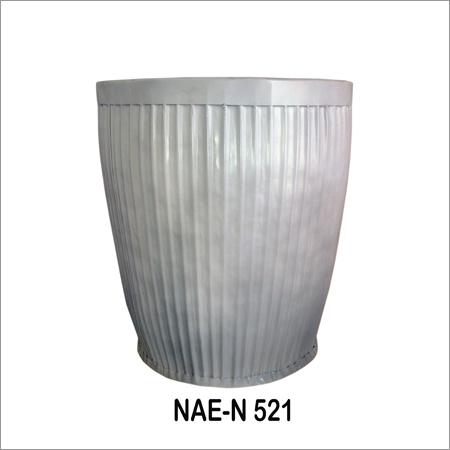 Industrial Iron Pot -White