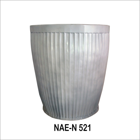 Industrial Iron Pot -White