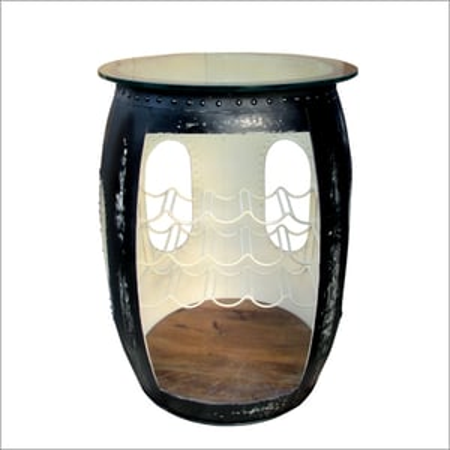 Wooden And Iron Wine Storage Drum