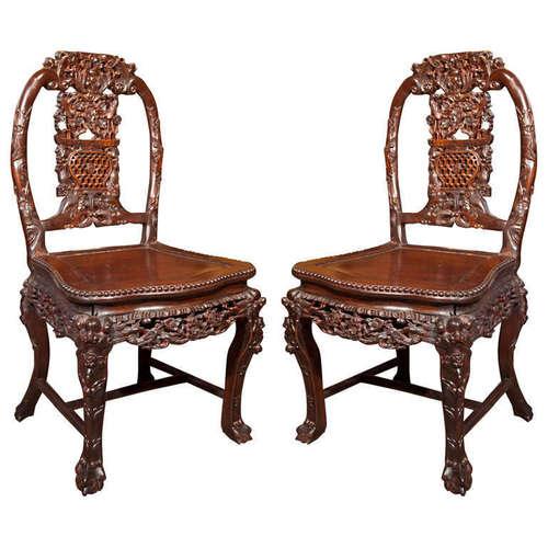 Indian royal maharaja hand carved chair