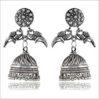 Oxidized Silver Brass Jhumki Earrings