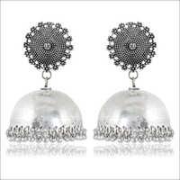 Oxidised Silver Brass Jhumki Earring