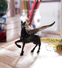 eCraftIndia Antique Finish Brass Flying Angel Horse