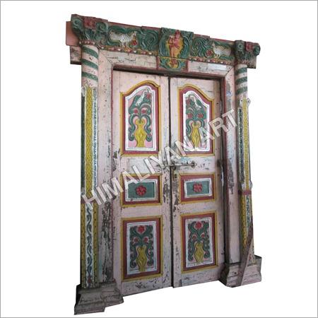 Antique Colorful Teak Door