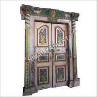 Antique Colorful Teak Door