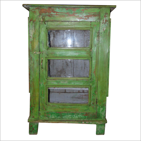 Antique Green Wooden Cabinet