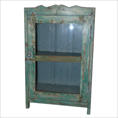 Antique Wooden Blue Cabinet