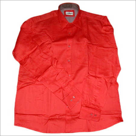 Men's Red Formal Shirt