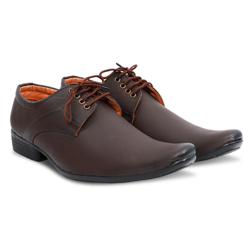 Dark Tan Formal Lace Up Shoes