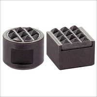 Grippers Round Square With Ribbed Hard Metal Insert