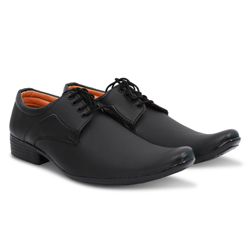 Dark Black Formal Lace up Shoes